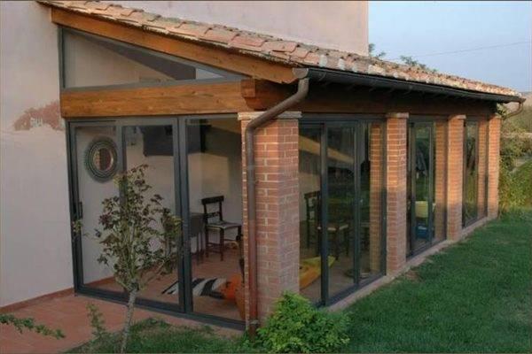 Chiusure per verande zega legnami roma part 1 for Casette con portici