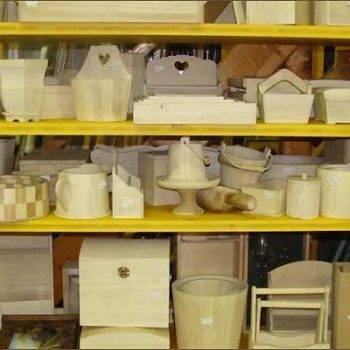 oggettistica in legno per decoupage