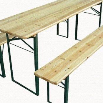 set birreria tavolo legno